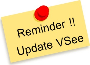 Reminder note update VSee