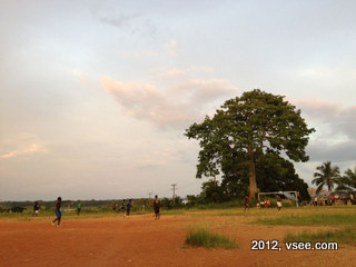 Gabon village soccer game