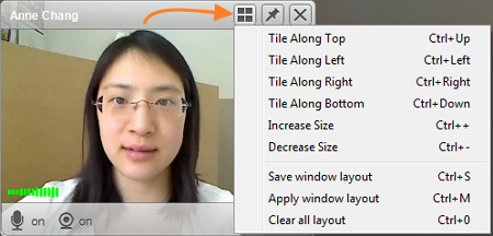 VSee video chat window shortcuts