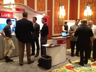 VSee MDLIVE booth crowds