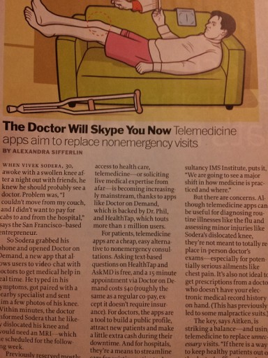 doctor on demand Times magazine