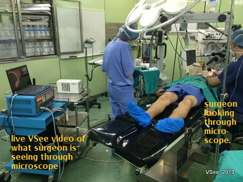 telesurgery training with VSee