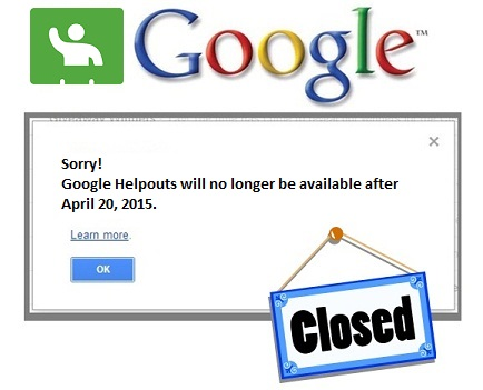 Google Helpouts shutting down