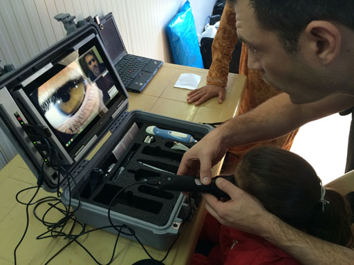 refugee telemedicine eye clinic